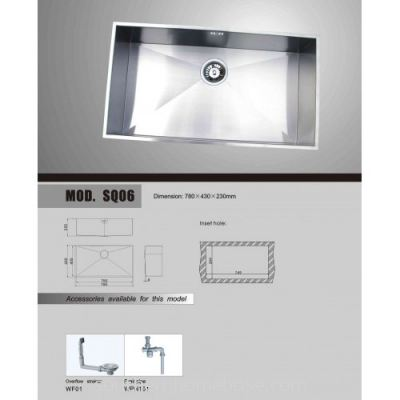 Bareno SQ06 SUS Sink