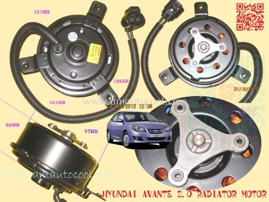 (RDT)   Hyundai Avante Radiator Motor
