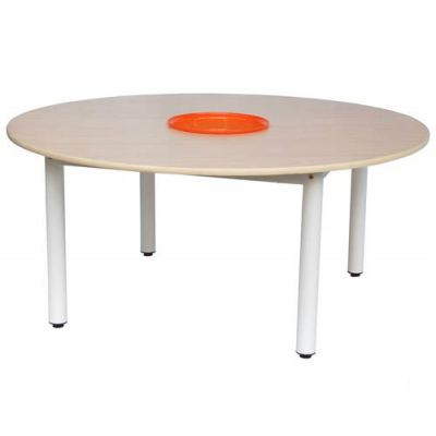 QW019   Round Table with Basket 4'