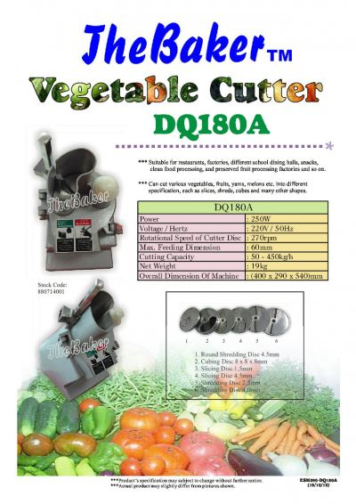 Vegetable Cutter DQ180 / Mesin Memotong Sayuran DQ180