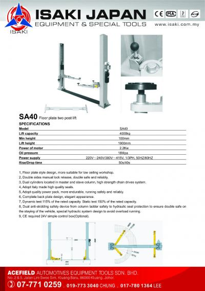 SA40 Floor Plate Post Lift