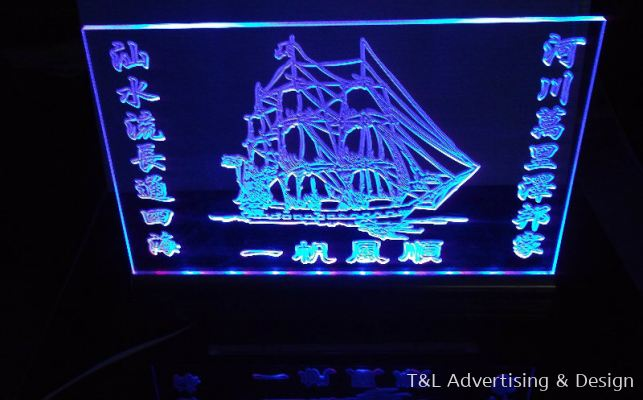 Customize Acrylic Signage with LED Multi Color Lighting