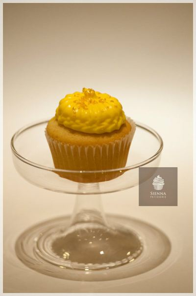 Lemon Cheesecake flavor cupcake