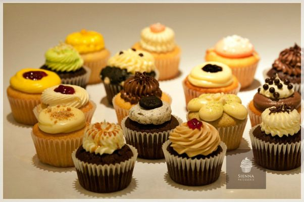 Cupcakes with assorted flavors