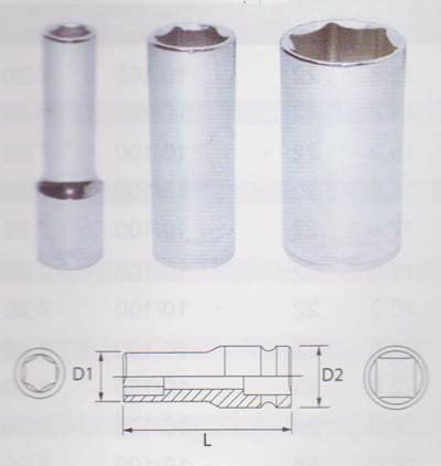 1 and 2 DR. Deep Socket (6 PT)