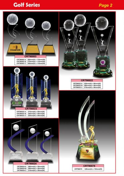 Crystal Trophy - New Models