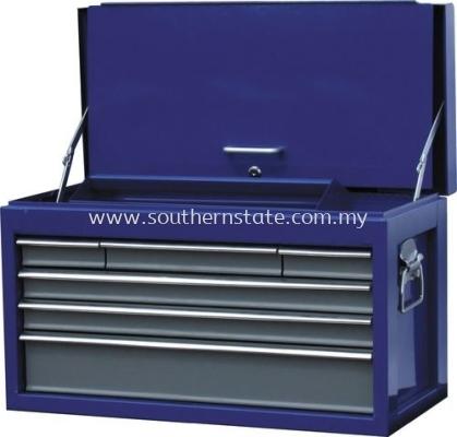 车间用蓝灰双色6抽屉卧式工具柜