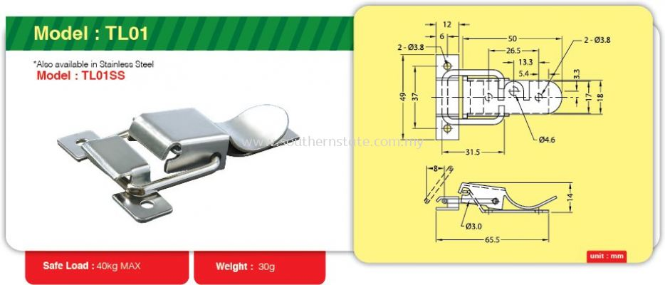 TL01- Toggle Link Clamp