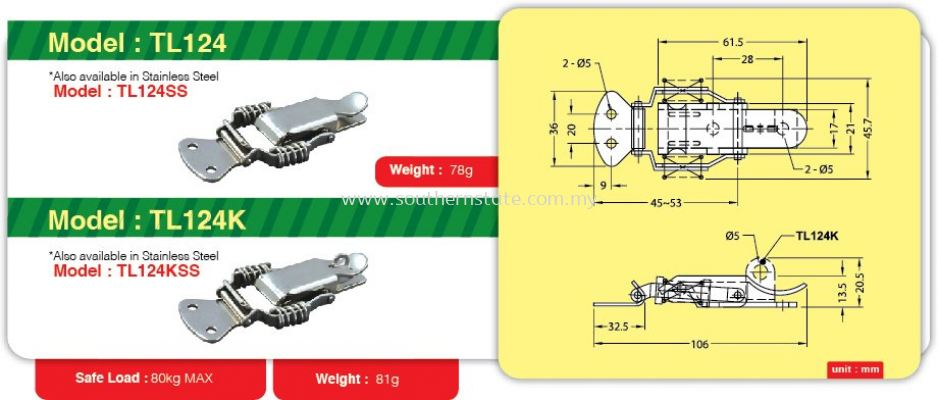 TL124- Toggle Link Clamp