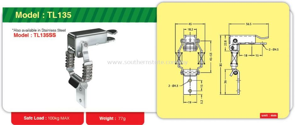 TL135- Toggle Link Clamp
