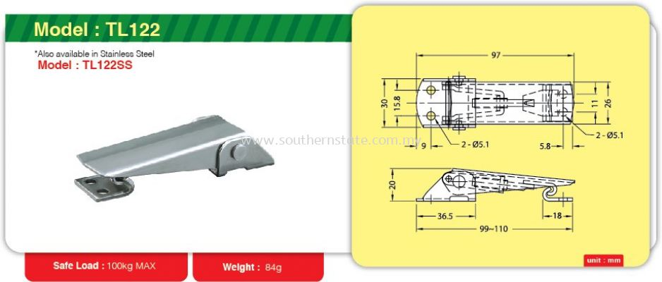 TL122- Toggle Link Clamp