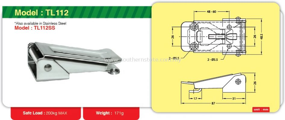 TL112- Toggle Link Clamp