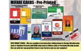 White PVC or Pre-Pinted MIFARE Cards Mifare Cards