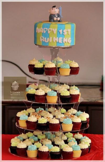 Cupcake Tower For Baby Full Moon
