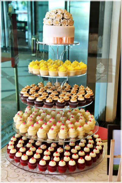 Cupcake Tower For Lovely Couple Wedding