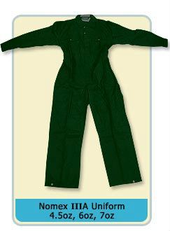 Nomex IIIA Uniform 4.5oz, 6oz, 7oz