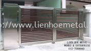 S120 Open Gate And Aluminium and Tempered Glass Stainless Steel