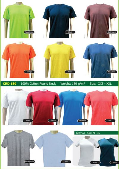 CRD 180 100% Cotton Round Neck