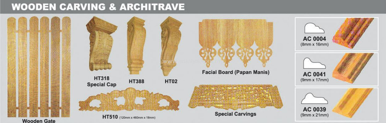 Wooden Carving & Architrave