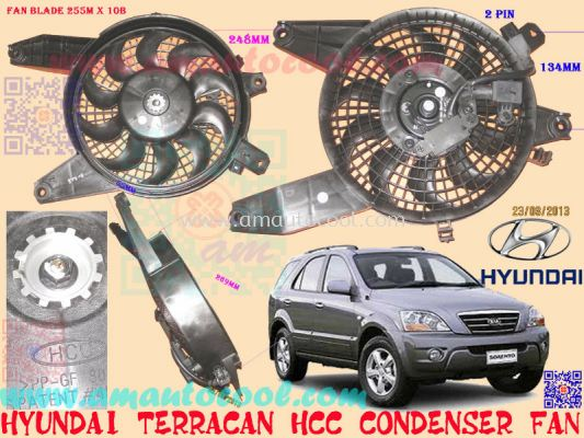 (CDS)  Hyundai Terracan HCC Condenser Fan