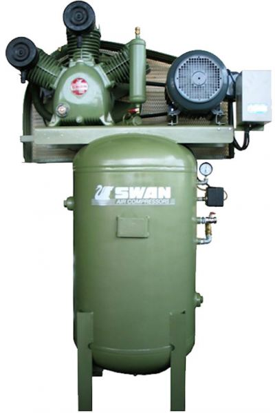 Swan HVP-205V Air Compressor 12Bar 5HP 900rpm 442L/min 225kg
