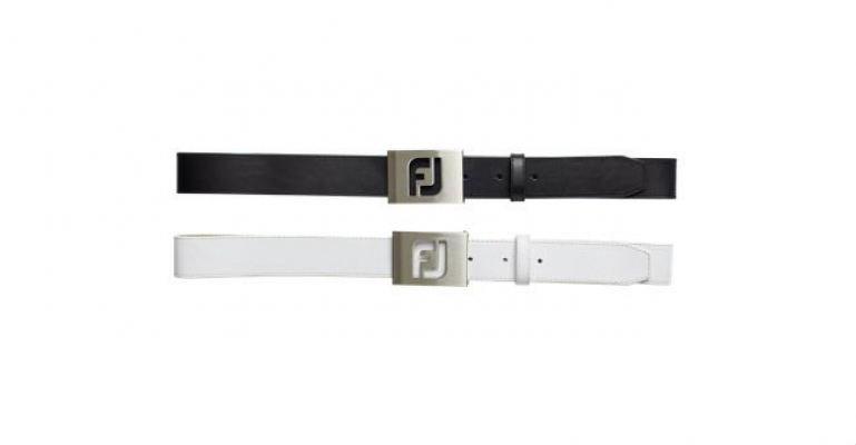 Foot Joy Corporate FJ Belt  Black & White