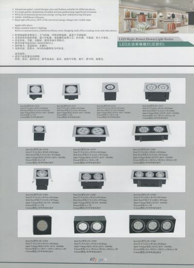 LED High-Power Down Light Series