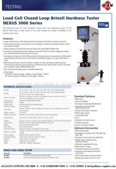 Brinell Bench Top Hardness Tester