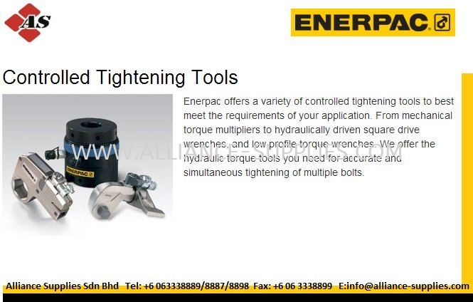 ENERPAC Hydraulic Torque Wrench/ Torque Multipliers/ Other Controlled Tightening Tools 24.HYDRAULIC BOLTING TOOLS