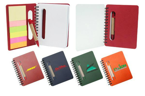 E028 Eco Sticky Notes Pad with Recycled Paper Pen