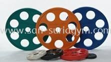 7 holes colour olympic plate