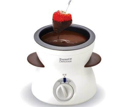 Fresco Electric Chocolate Fondue CF21B White Color