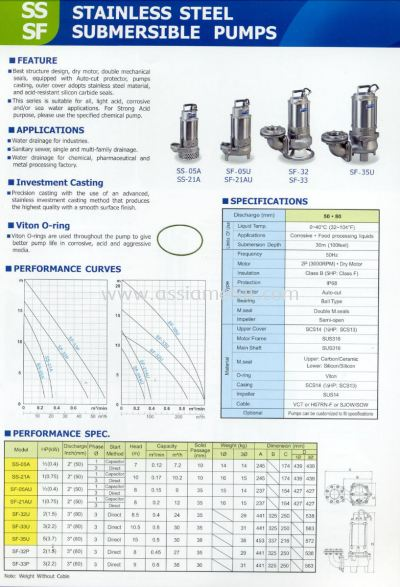 SS SF Submersible Pumps
