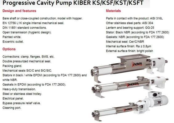 Progressive Cavity Pump KIBER KS/KSF/KST/KSFT