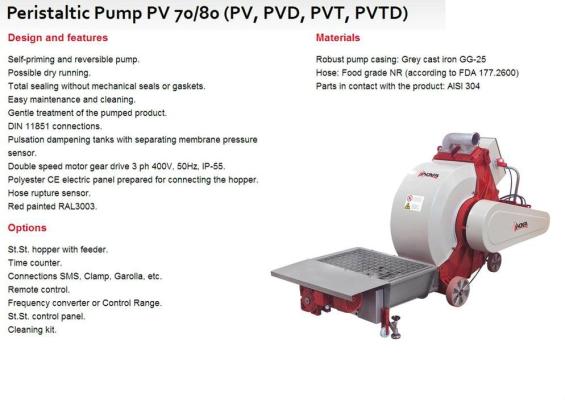 Peristaltic Pump PV 70/80 (PV, PVD, PVT, PVTD)