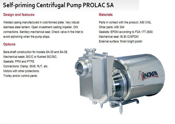 Self-priming Centrifugal Pump PROLAC SA