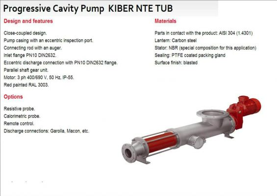 Progressive Cavity Pump KIBER NTE TUB