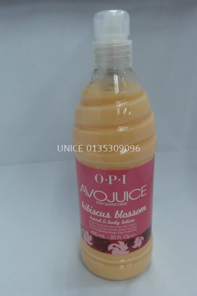 opi avojuice lotion 600ml hibiscus blossom