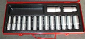YEARSWAY 15PCS 12PT DEEP SOCKET SET ID115141-ID555155