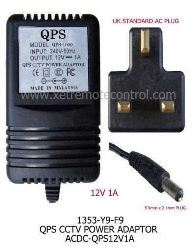 12V 1A QPS CCTV POWER ADAPTER-Transformer Type