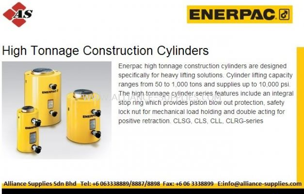 ENERPAC High Tonnage Construction Cylinders