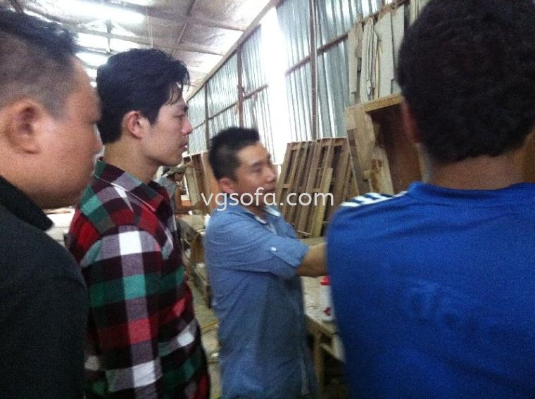 Zhang Yao Dong factory visitation at VG Sofa (M) Sdn Bhd