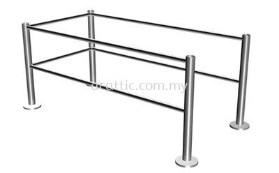SR-FL Stainless Steel Safety Rail