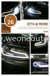 jetta head lamp with neon light bar # philipe HID # head light protection @ We One Auto Station  Others