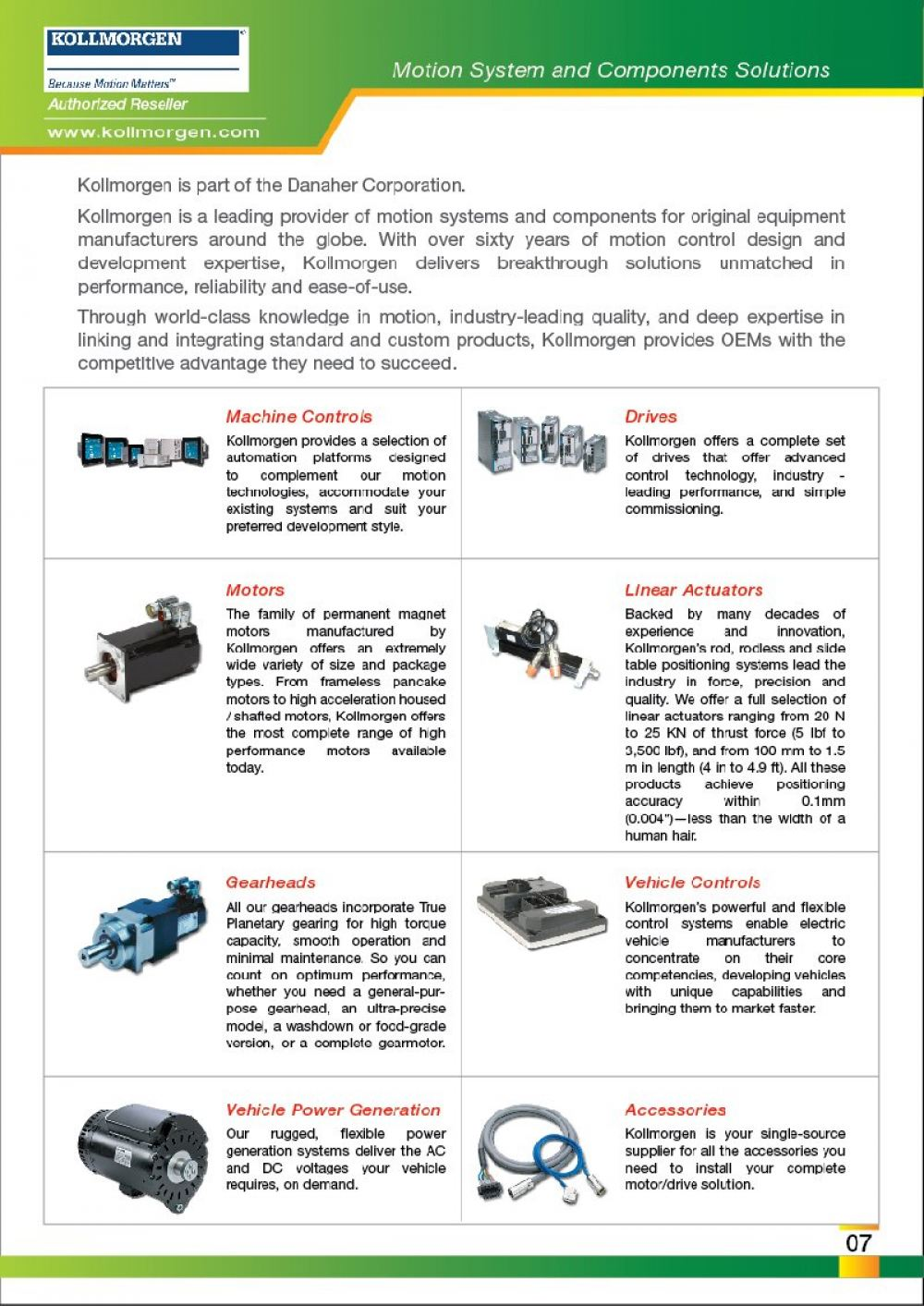 FEG is Authorized Reseller KOLLMORGEN Motors Drives Actuators