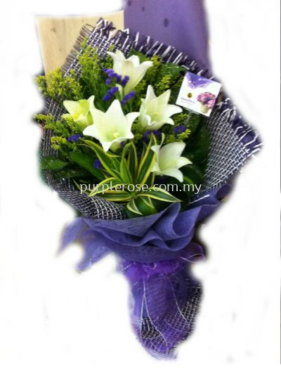 Lillies/Tulips bouquet 07-Love You Always(SGD56)