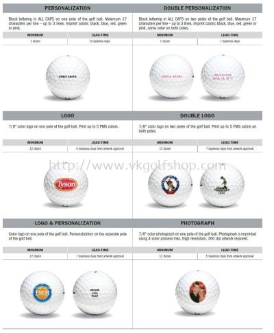 Titleist Golf Balls Customization Options