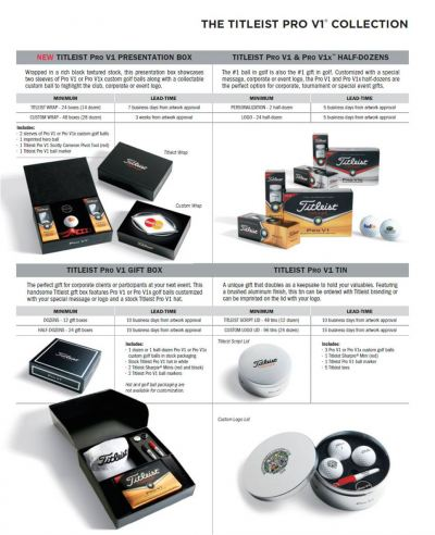 Titleist Pro V1 Golf Balls Presentation Box Collection