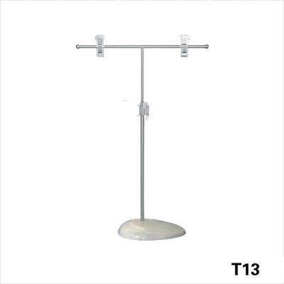 652033 - PLASTIC BASE T TYPE w 2 CLIP ADJ. H50cm (T13)