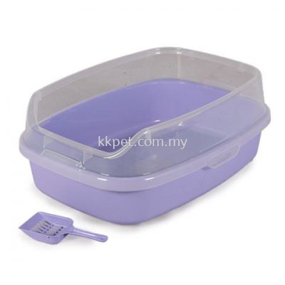 Cat Litter Tray Purple